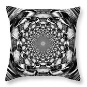 Tunnel Vision-black And White Throw Pillow