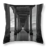 Tunnel Vision Bw  Throw Pillow