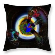 Tunnel Vision Up The Drain Throw Pillow