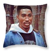 Tupac Shakur Drawing Throw Pillow