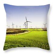 Turbine Fields Throw Pillow