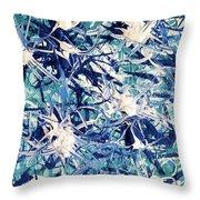 Turbo Turquoise  Throw Pillow