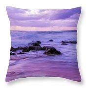 Turbulent Daybreak Seascape Throw Pillow