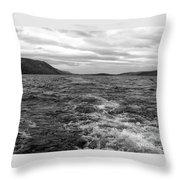 Turbulent Loch Ness In Monochrome Throw Pillow