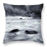 Turbulent Seas Throw Pillow