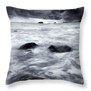 Turbulent Seas Throw Pillow by Mike  Dawson