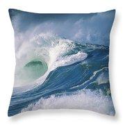 Turbulent Shorebreak Throw Pillow