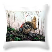 In Strut - Turkey Throw Pillow