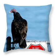 Turkey Buzzard Throw Pillow