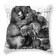 Turkey: Crimea Cartoon Throw Pillow
