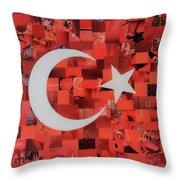 Turkey Flag Throw Pillow