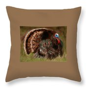 Turkey In The Straw Throw Pillow