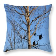 Turkey Vulture Tree Throw Pillow