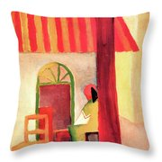 Turkish Cafe By August Macke Throw Pillow