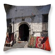 Turkish Carpet Shop Throw Pillow