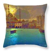 Turkish  Moonlight Throw Pillow by Saiyyidah Seema  Z