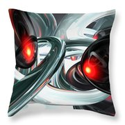 Turmoil Abstract Throw Pillow