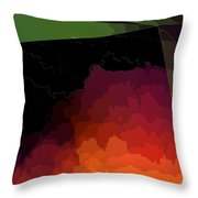 Turmoil Below Outlined Throw Pillow
