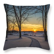 Turn Left At The Sunset Throw Pillow