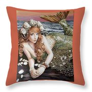 Turn Loose The Mermaid Throw Pillow