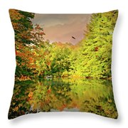 Turn Of River Throw Pillow