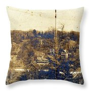 Turn Of The Century Dyckman Street Panorama Throw Pillow