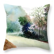 Turn Right Throw Pillow
