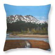 Turnagain Arm Alaska Throw Pillow