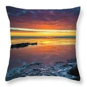 Turnagain Arm Sunset Throw Pillow