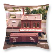 Turner Candy Company Throw Pillow