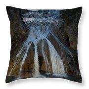 Turner Falls At Night Throw Pillow