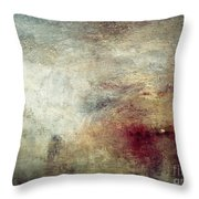 Turner: Sun Setting, C1840 Throw Pillow