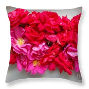 Turning Up Roses Throw Pillow