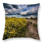 Turnip Field Throw Pillow