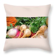 Turnips And Carrots Throw Pillow