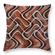 Turns And Curves Throw Pillow