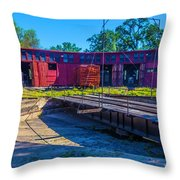 Turntable At Roundhouse Throw Pillow