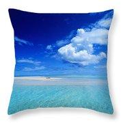 Turquiose Lagoon Throw Pillow