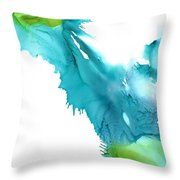 Turquoise Abstract Throw Pillow