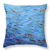 Turquoise And Blue Swirls Large Canvas Throw Pillow