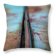 Turquoise And Rust Abstract Throw Pillow
