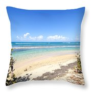 Turquoise Beach Hideaway In Vieques Throw Pillow