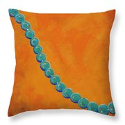 Turquoise Beads Throw Pillow