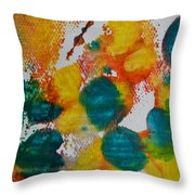 Turquoise Blue Throw Pillow