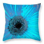 Turquoise Burn Throw Pillow