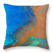 Turquoise Cove Throw Pillow