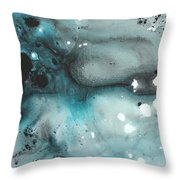 Turquoise Ecstasy By Madart Throw Pillow