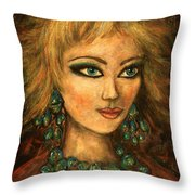 Turquoise Eyes Throw Pillow