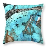 Turquoise Gold Pond 1 Throw Pillow