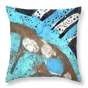 Turquoise Gold Pond 2 Throw Pillow